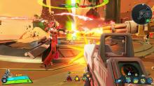 Battle against many enemies in this stylized game.