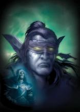 Illidan and Uther are vastly different characters of the main WoW cannon and offer an interesting comparison in this image.