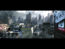 Post-apocalyptic cities don't get much greyer than this