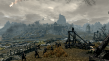 A siege on a major city in Skyrim.