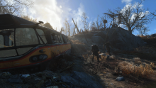 A view of the environment of Fallout 4.