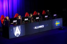 Alliance, a European LoL team prepare for their match.