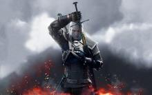Geralt takes his cursed sword out