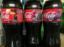 Coca Cola bottles from Korea. Annie, Vi, and Braum are featured.