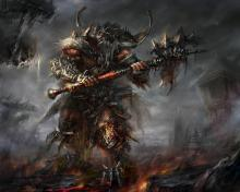 An adept at melee combat, the Barbarian relies on massive weapon strikes to deal maximum damage to his enemies.