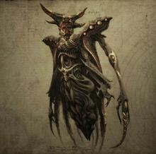 Belial is a master of deceit and opportunity, preferring to disguise himself and manipulate his enemies, rather than attack them head-on. However, when confronted, he transforms into a massive beast in order to combat his enemies.