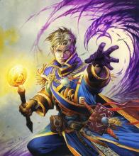 Turning towards the Light, Anduin has chosen the path of a priest