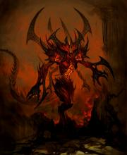 Those who suffer from nightmares and voices in their heads are probably touched by Diablo, the Lord of Terror. Diablo subjugates his targets with visions and whispers of their deepest fears before attacking them while they are at their most vulnerable.