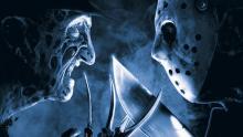 Frightening poster art from Freddy Vs Jason (2003).
