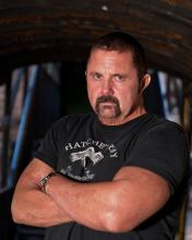 The real man behind the mask! Kane Hodder will be providing the motion capture for the game.