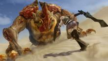 You can find this monster when travelling through the sand dunes, its defense is quite high