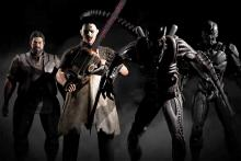 Various characters that are downloadable in MKX, such as Leather face and Alien.