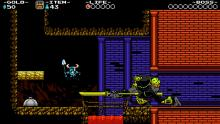 Shovel Knight uses his skills.