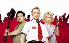 Simon Pegg is the star of the movie. The movie shows how a normal worker can survive the zombie apocalypse with his friends
