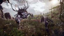 Geralt vs he 3 eyed zombie reindeer