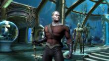 Aquaman posing in Injustice: Gods Among Us