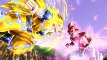 Goku fights kid buu
