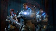 In Gears of War 4, you will have to face down mighty enemies. Stay alert!