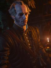 Though a powerful vampire, Regis has sworn off drinking human blood. He still enjoys a good bottle of Nilfgaardian Lemon, though.