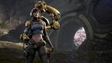 Caster Gadget, one of many playable characters in Paragon
