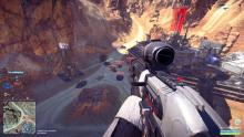 Snipe from high up to take out enemies without being seen in Planetside 2
