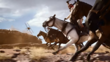 In the battlefield trailer we saw horseback action, along with small fighter jets, it was action packed!
