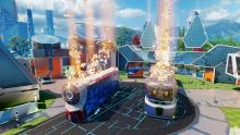 Here is the current Nuketown, clearly a huge change from the original map, much more futuristic and the graphics have improved.