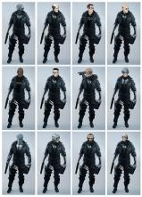 Different looks that will be presented in Cyberpunk 2077