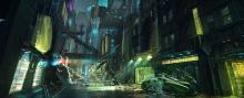 Gorgeous environment concept art for Cyberpunk 2077