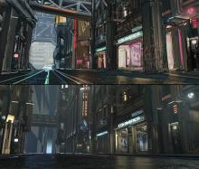 Cyberpunk 2077's urban environment concept art