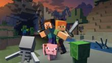 Beat down skeletons and creepers in Minecraft
