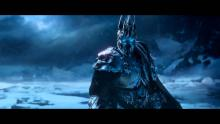 The Lich King from World of Warcraft is a great backdrop for this tune, showing the great hero's fall from grace.
