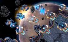A space battle erupts between the Terran and the Protoss.