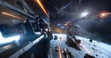 Star Citizen space combat involves some intense firefights.