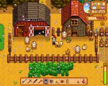 Build barns and coops to get animal goods to sell.