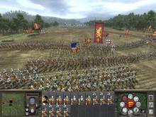 Two large armies crash against each other.