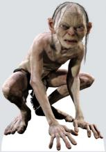 Andy Serkis Posing and Animated as Gollum