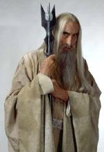 Christopher Posing as Saruman