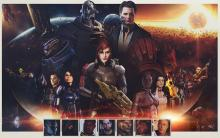 The main cast of the trilogy.