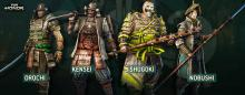 The different fighting classes of the Samurai