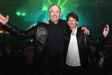 Robert A. Altman and Todd Howard at the Fallout 4 video game launch event.