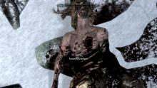 Screenshot of Dead Forsworn Briarheart without a Heart in Chest
