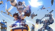 A dinamic and awesome picture featuring someof the Overwatch characters, with amazing perspective - you can almost feel the exhileration of the characters yourself.