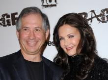 Robert A. Altman with wife and Wonder Woman actress Lynda Carter at the Rage video game launch.