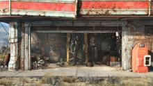 The protagonist's workshop in Fallout 4.