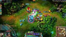 A screenshot from some typical gameplay in League of Legends