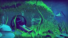 A shot of some underwater gameplay from No Man's Sky