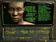 One of the pre-generated characters in the Fallout 2 character creator.