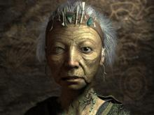 Even in just one game, the facial construction got even better. This is one of the elders from Fallout 2.