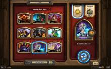 A screenshot of the class selection page in Hearthstone.